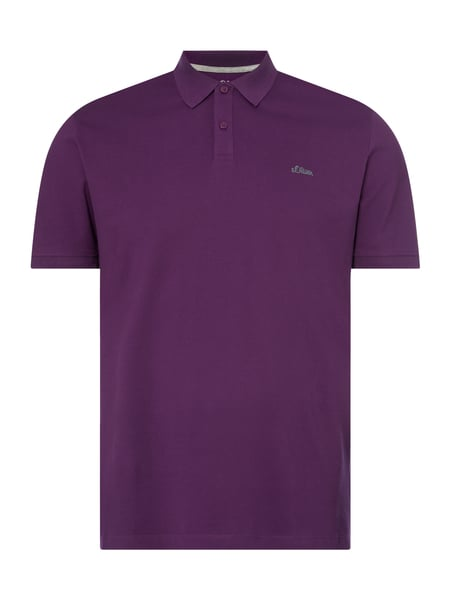 s.Oliver RED LABEL Regular Fit Poloshirt mit Logo-Stickerei Lila - 1