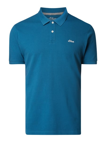 s.Oliver RED LABEL Regular Fit Poloshirt mit Logo-Stickerei Türkis - 1