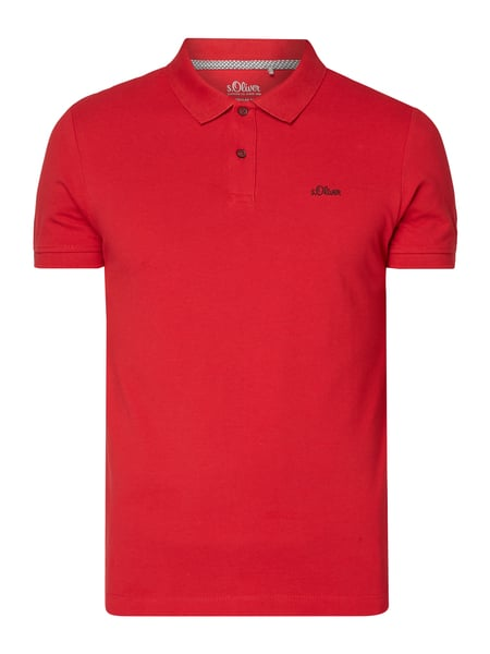 s.Oliver RED LABEL Regular Fit Poloshirt mit Logo-Stickerei Rot - 1