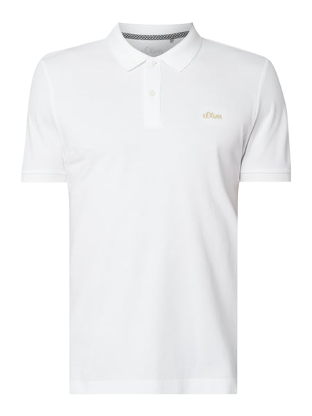 s.Oliver RED LABEL Regular Fit Poloshirt mit Logo-Stickerei Weiß - 1