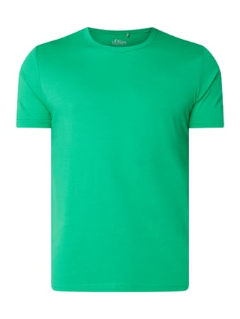 s.Oliver RED LABEL Regular Fit T-Shirt aus Baumwolle Grün - 1