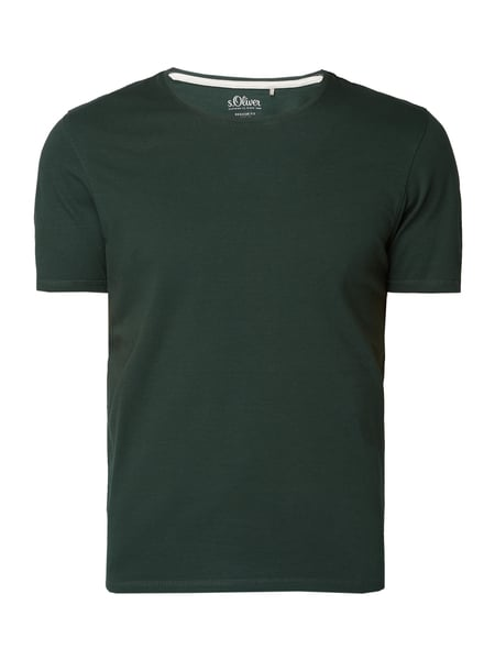 s.Oliver RED LABEL Regular Fit T-Shirt mit Logo-Aufnäher Grün - 1