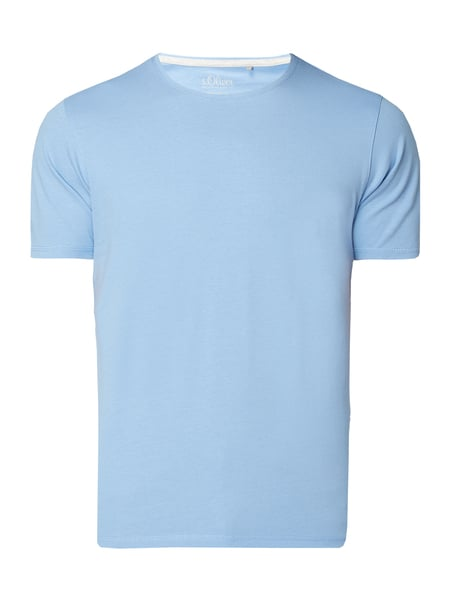 s.Oliver RED LABEL Regular Fit T-Shirt mit Logo-Aufnäher Blau - 1
