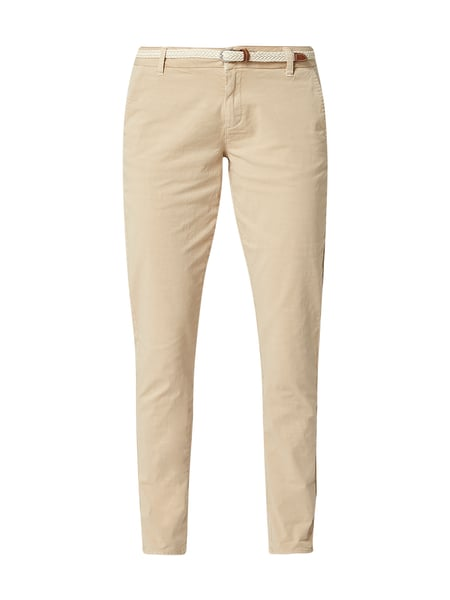 s.Oliver RED LABEL Relaxed Fit Chino mit Flechtgürtel Beige - 1