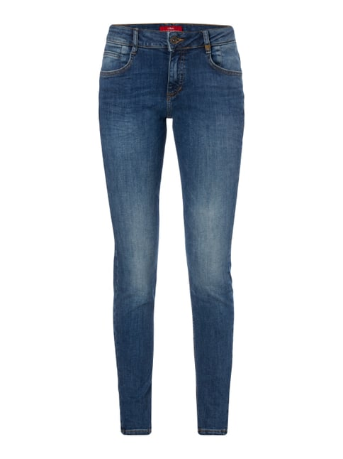 Rinsed Washed Super Skinny Fit Jeans Blau / Türkis - 1