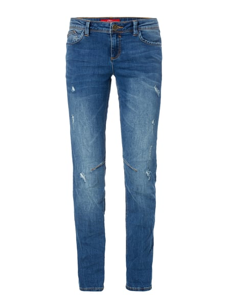 Shape Slim Fit 5-Pocket-Jeans im Destroyed Look Blau / Türkis - 1