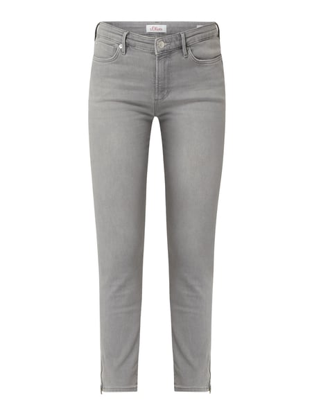 s.Oliver RED LABEL Skinny Fit Jeans mit Stretch-Anteil Modell 'Izabell' Grau - 1