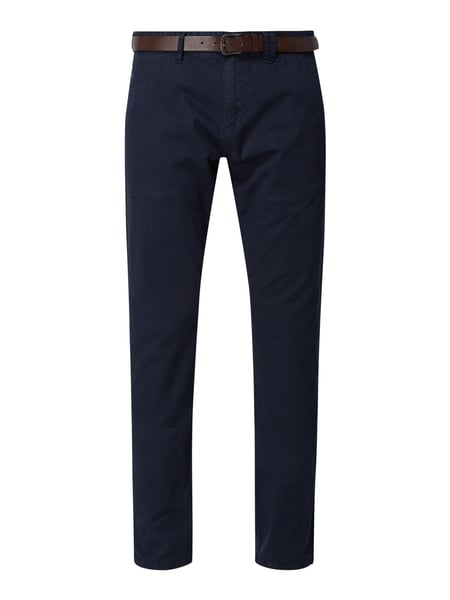 s.Oliver RED LABEL Slim Fit Chino mit Gürtel Blau - 1