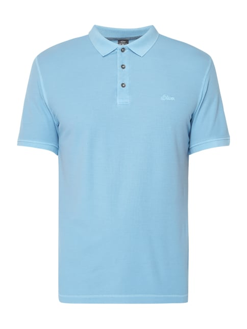 a90080eb0c38 s.Oliver RED LABEL Slim Fit Poloshirt im Washed Out Look Blau   Türkis ...