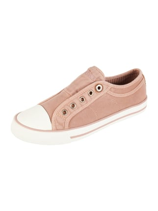 Slip-On Sneaker mit Logo-Stickerei Rosé - 1
