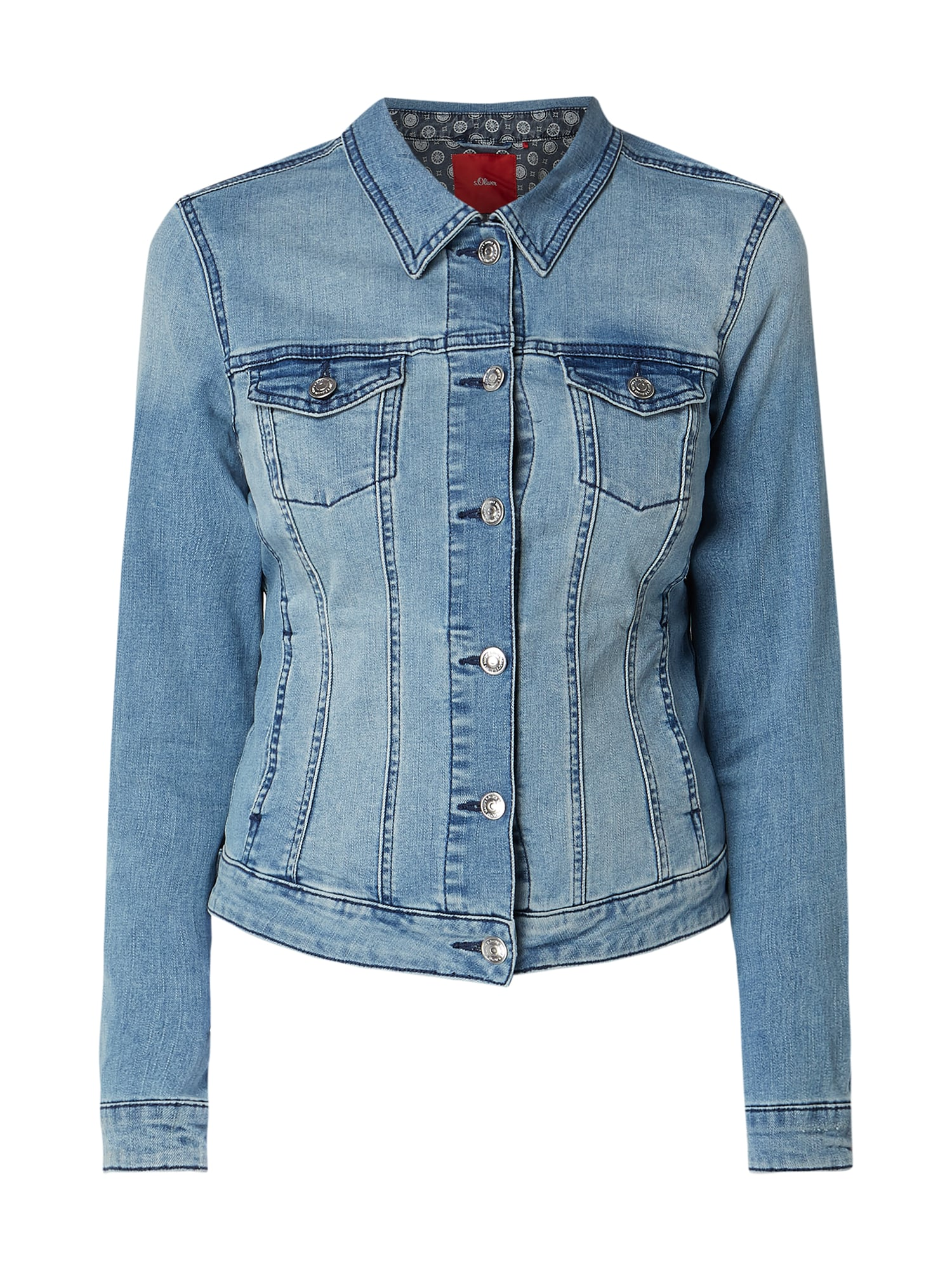 S Oliver Red Label Stone Washed Jeansjacke Mit Stretch Anteil In