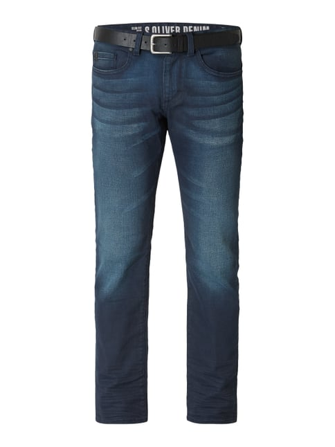 s.Oliver RED LABEL Stone Washed Slim Fit Jeans Blau   Türkis - 1 ... 6dab243b3c