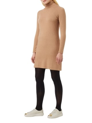 s.Oliver RED LABEL Strickkleid mit Rollkragen in Braun - 1