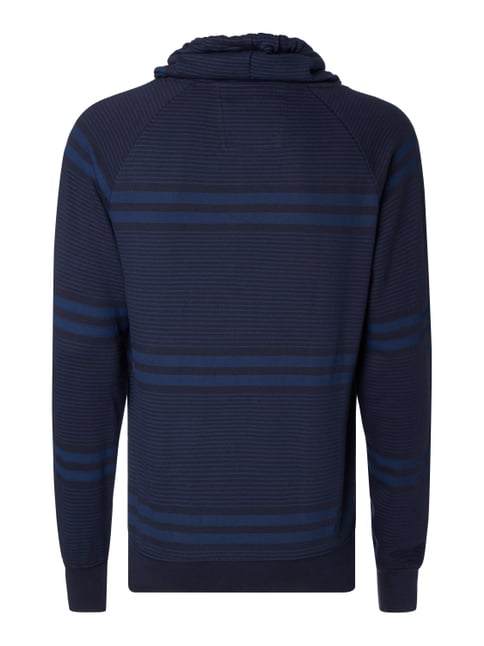 s.Oliver RED LABEL Sweatshirt mit Streifenmuster Marineblau - 1