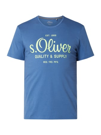 s.Oliver RED LABEL T-Shirt aus Baumwolle Blau - 1
