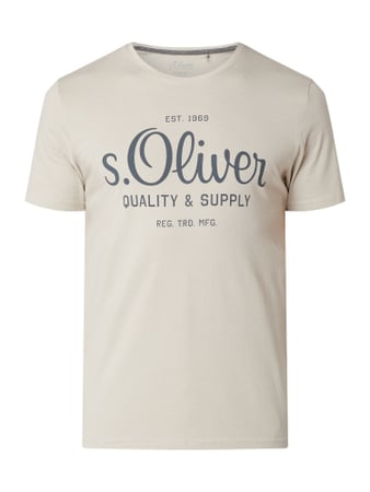 s.Oliver RED LABEL T-Shirt aus Baumwolle Grau - 1