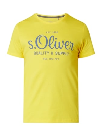 s.Oliver RED LABEL T-Shirt aus Baumwolle Gelb - 1