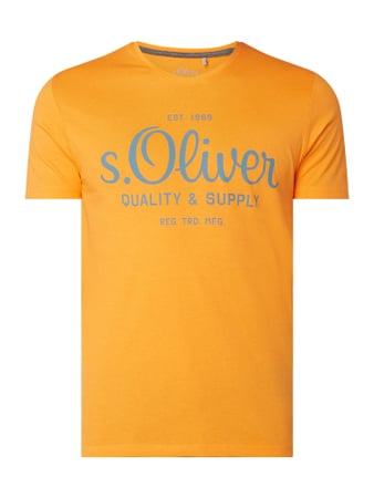 s.Oliver RED LABEL T-Shirt aus Baumwolle Orange - 1