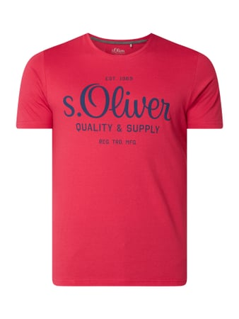 s.Oliver RED LABEL T-Shirt aus Baumwolle Rosa - 1