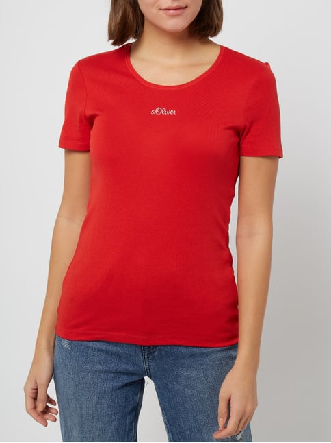 Oliver RED LABEL T-Shirt aus Baumwolle Rot - 1 1735abc8eb