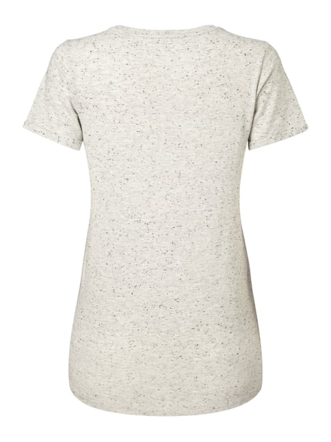 s.Oliver RED LABEL T-Shirt mit Flockprint Beige - 1