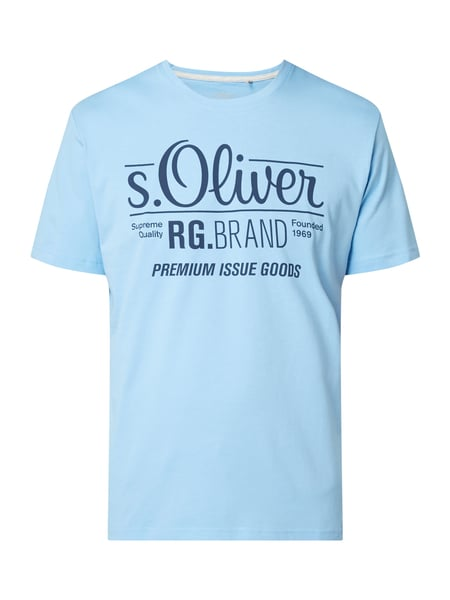 s.Oliver RED LABEL T-Shirt mit Logo-Print Bleu