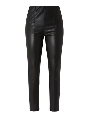 s.Oliver RED LABEL Treggings in Leder-Optik Schwarz - 1