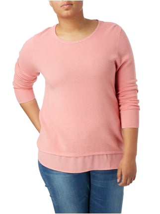 Samoon PLUS SIZE - Pullover im Double-Layer-Look Lachs - 1