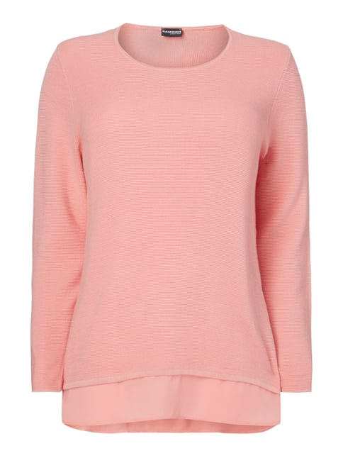 PLUS SIZE - Pullover im Double-Layer-Look Orange - 1