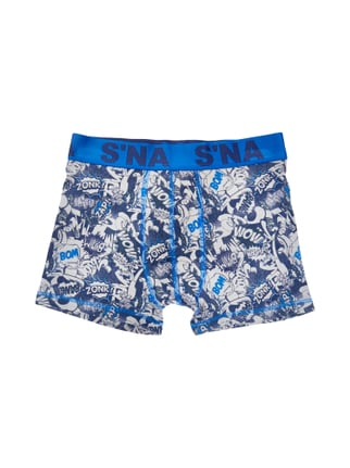 Trunks mit Comic-Print Blau / Türkis - 1