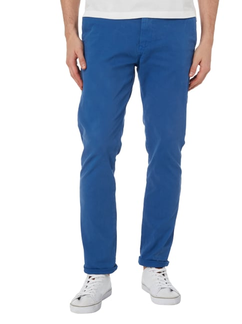 Scotch & Soda Blauw Chino mit Gürtel Royalblau - 1