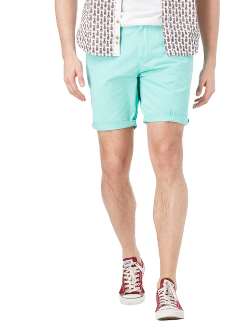 Scotch & Soda Blauw Chinoshorts aus reiner Baumwolle Mint - 1