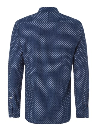 Scotch & Soda Blauw Slim Fit Freizeithemd mit extralangem Arm Marineblau - 1