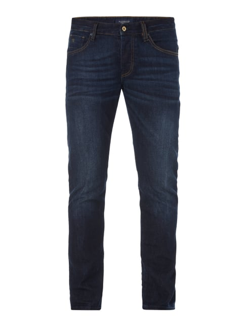 Stone Washed Regular Slim Fit Jeans Blau / Türkis - 1