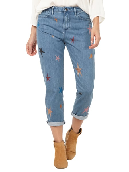 scotch soda boyfriend jeans mit glitter sternen verk rzt in blau t rkis online kaufen. Black Bedroom Furniture Sets. Home Design Ideas