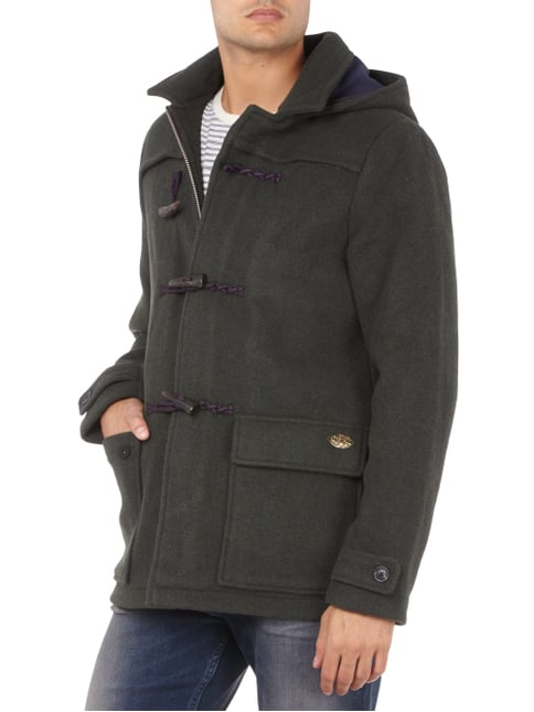 Scotch & Soda Dufflecoat aus Woll-Mix Dunkelgrün - 1