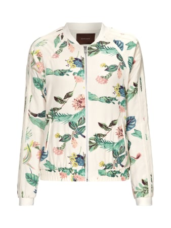 Scotch & Soda Jacke mit All-Over-Blumenprint Weiß - 1