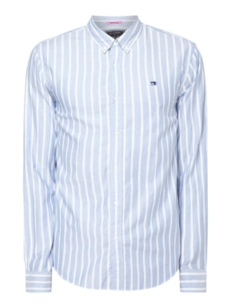 Scotch & Soda Modern Fit Freizeithemd mit Button-Down-Kragen Blau / Türkis - 1