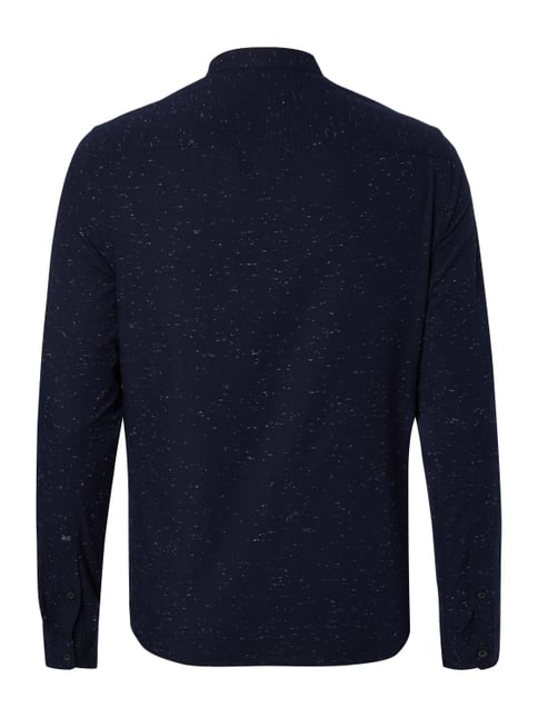 Scotch & Soda Regular Fit Freizeithemd mit Stehkragen Marineblau - 1