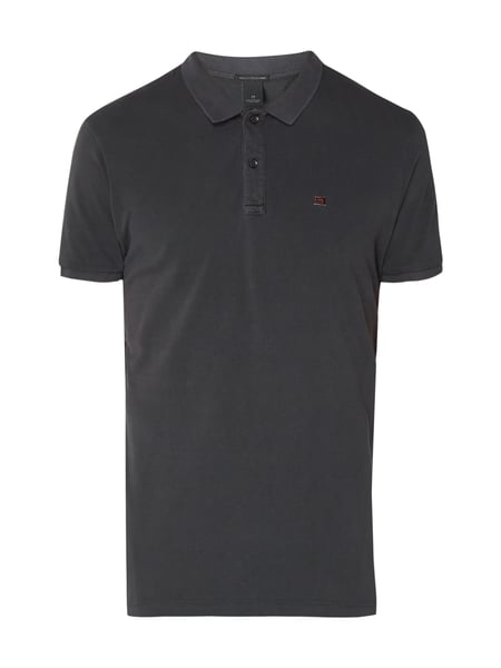 Scotch & Soda Poloshirt mit Logo-Stickerei Dunkelgrau