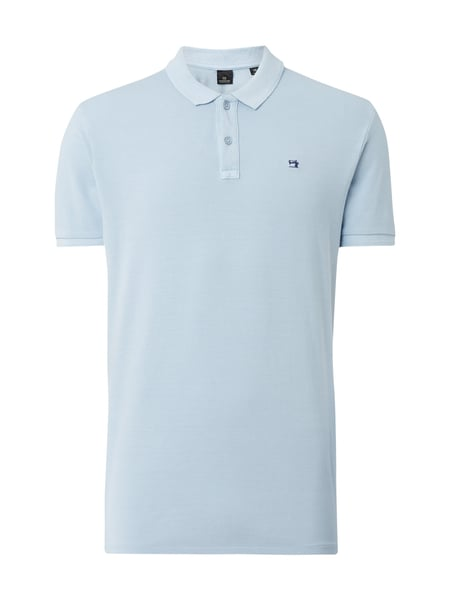 Scotch & Soda Poloshirt mit Logo-Stickerei Hellblau