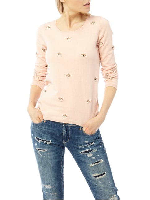 Maison Scotch Pullover mit Allover-Muster Rosé - 1
