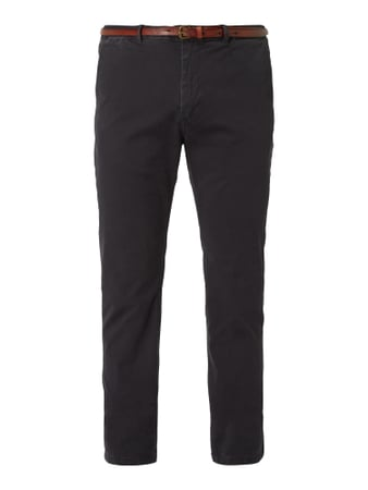 Scotch & Soda Regular Slim Fit Chino mit Gürtel Blau / Türkis - 1