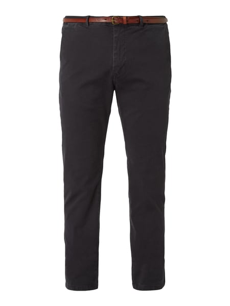 Scotch & Soda Regular Slim Fit Chino mit Gürtel Blau - 1