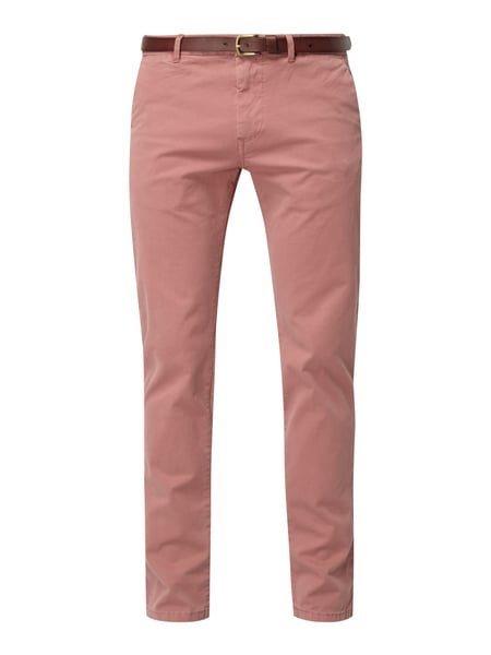 Scotch & Soda Regular Slim Fit Chino mit Gürtel Pink