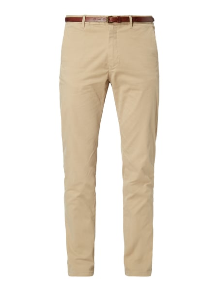 Scotch & Soda Regular Slim Fit Chino mit Gürtel Sand