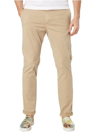 Scotch & Soda Slim Fit Chino mit Gürtel Sand - 1