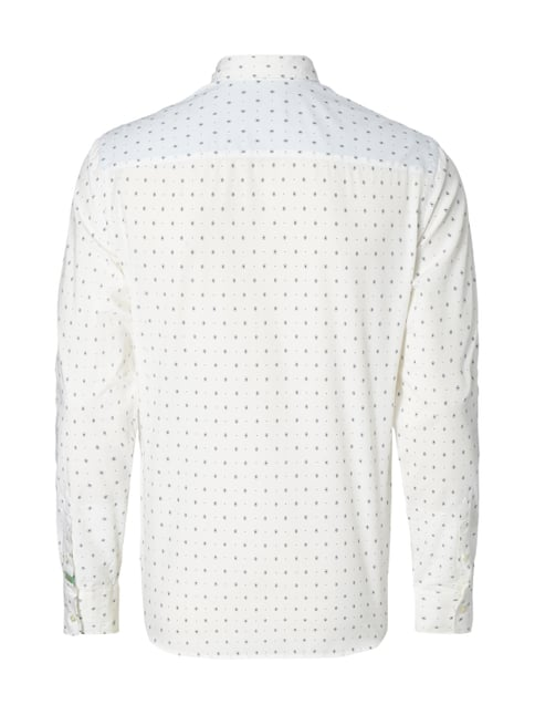 Scotch & Soda Slim Fit Freizeithemd mit Allover-Muster Weiß - 1