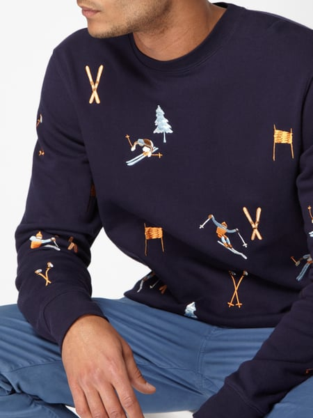 e8227bd680a1 SCOTCH-SODA Sweatshirt mit Ski-Stickereien in Blau   Türkis online ...