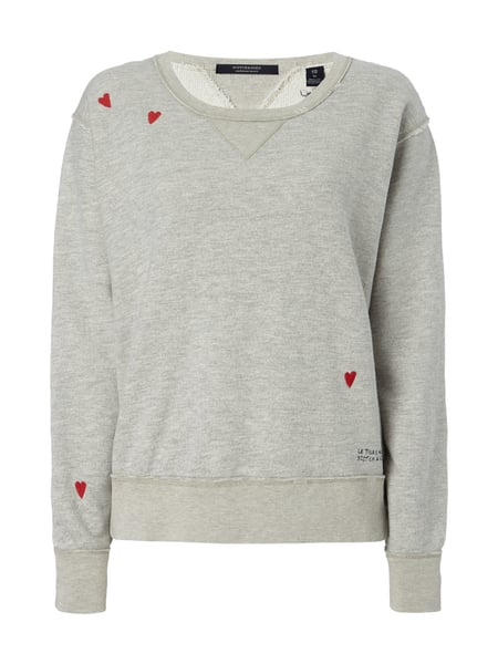 36ea11aab5da SCOTCH-SODA Sweatshirt mit Stickereien in Grau   Schwarz online ...